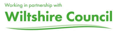 Wiltshire Council logo In partnership Green A